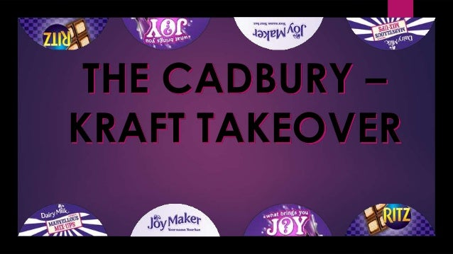 cadbury takeover Kraft cadbury merger 1 mergers  • cadbury contacts the uk takeover panel to request a put up or shut up request be sent to kraft, which would.