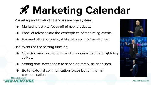 🚀 Marketing Calendar Marketing and Product calendars are one system: ● Marketing activity feeds off of new products. ● Pro...