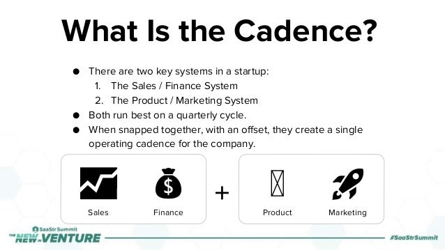 ● There are two key systems in a startup: 1. The Sales / Finance System 2. The Product / Marketing System ● Both run best ...