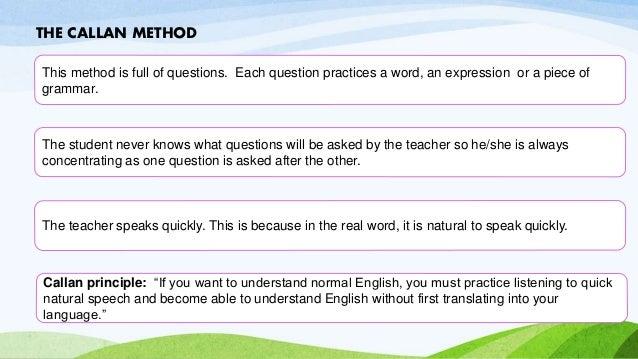 Callan Method - Learn to speak English | Central School