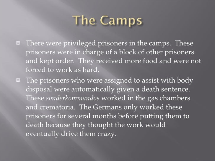 privileged prisoners in the labor camps essay Here it is important to distinguish between what happened in the ghettos and the policy in the labor camps and concentration camps, even though there was also considerable variation within each of these three spheres (depending on the location, as well as the exact month and year.
