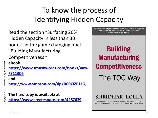 """Copyrights©2013CVMark.AllRightsReserved. To know the process of Identifying Hidden Capacity Read the section """"Surfacing 20..."""