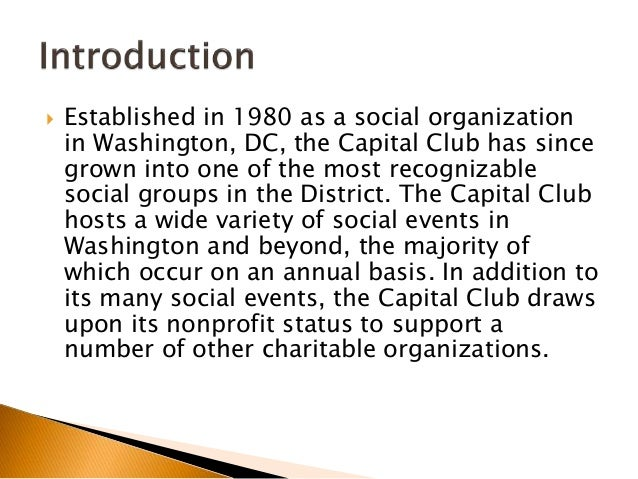 The Capital Club Supports US Charities Slide 2