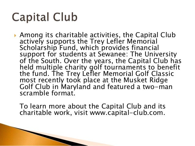 The Capital Club Supports US Charities Slide 3