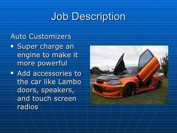 job description for mechanic