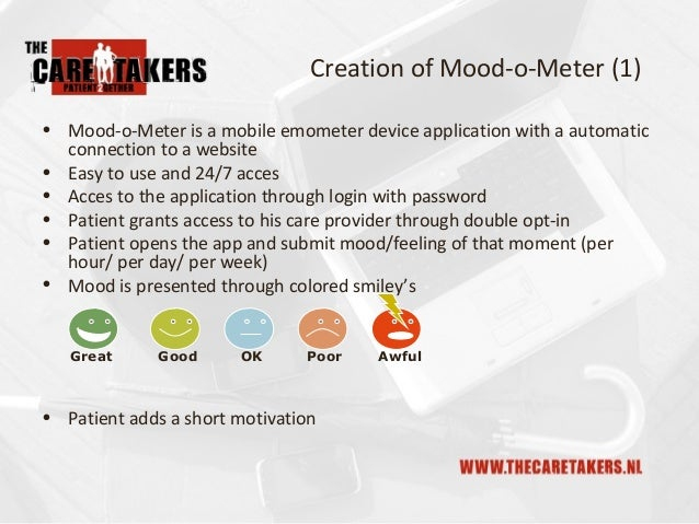 The Caretakers Mood-o-Meter, Technical Innovation Slide 3