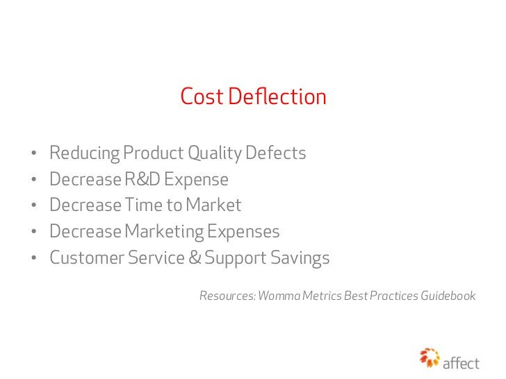 Cost Deflection•   Reducing Product Quality Defects•   Decrease R&D Expense•   Decrease Time to Market•   Decrease Mark...