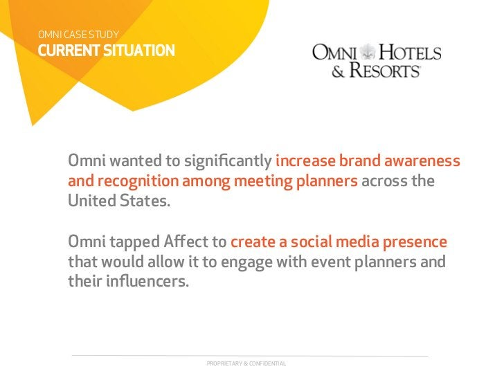 OMNI CASE STUDYCURRENT SITUATION     Omni wanted to significantly increase brand awareness     and recognition among meetin...