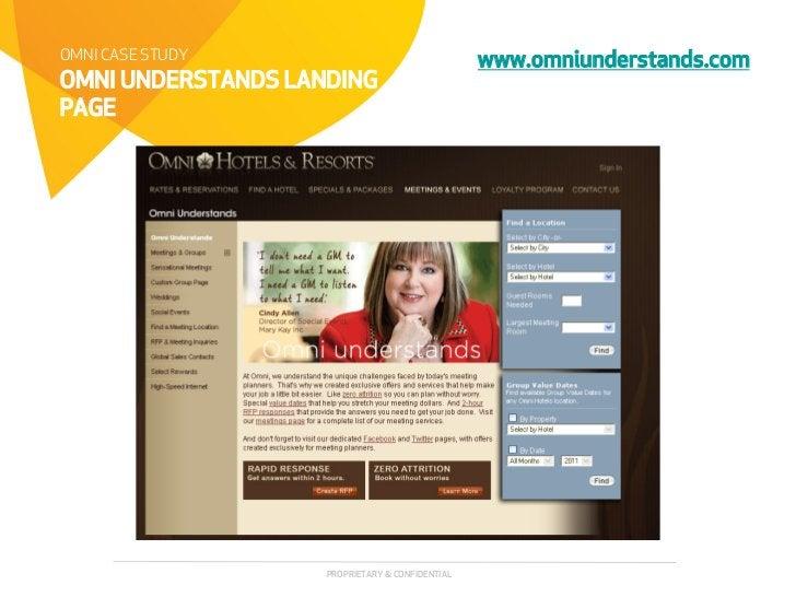 OMNI CASE STUDY                                  www.omniunderstands.comOMNI UNDERSTANDS LANDINGPAGE                    PR...