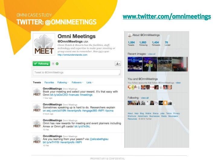 OMNI CASE STUDY                             www.twier.com/omnimeetingsTWITTER: @OMNIMEETINGS                    PROPRIETA...