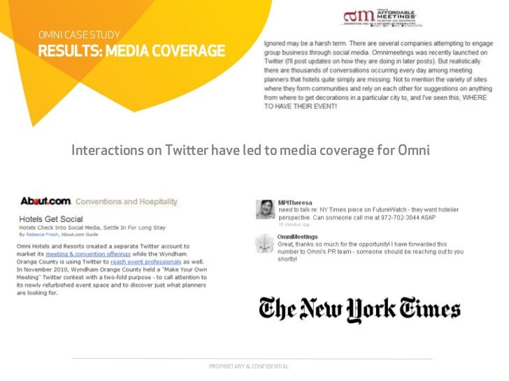 OMNI CASE STUDYRESULTS: MEDIA COVERAGE      Interactions on Twier have led to media coverage for Omni                    ...