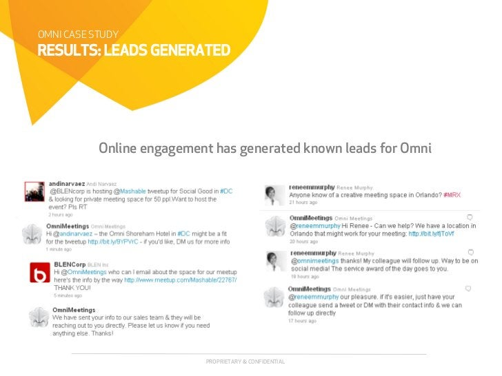 OMNI CASE STUDYRESULTS: LEADS GENERATED           Online engagement has generated known leads for Omni                    ...