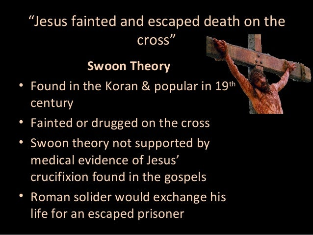 Hasil gambar untuk jesus crucified swoon theory