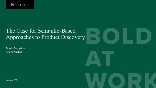The Case for Semantic-Based Approaches to Product Discovery Slide 3