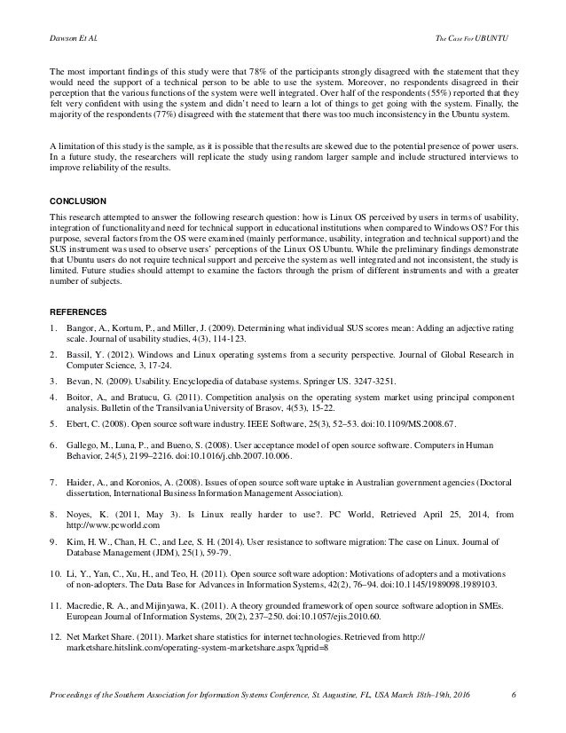 research paper on ubuntu operating system