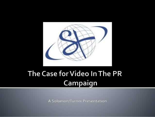 Video presents a huge opportunity to connect with stakeholders and build your brand. http://www.solomonturner.com