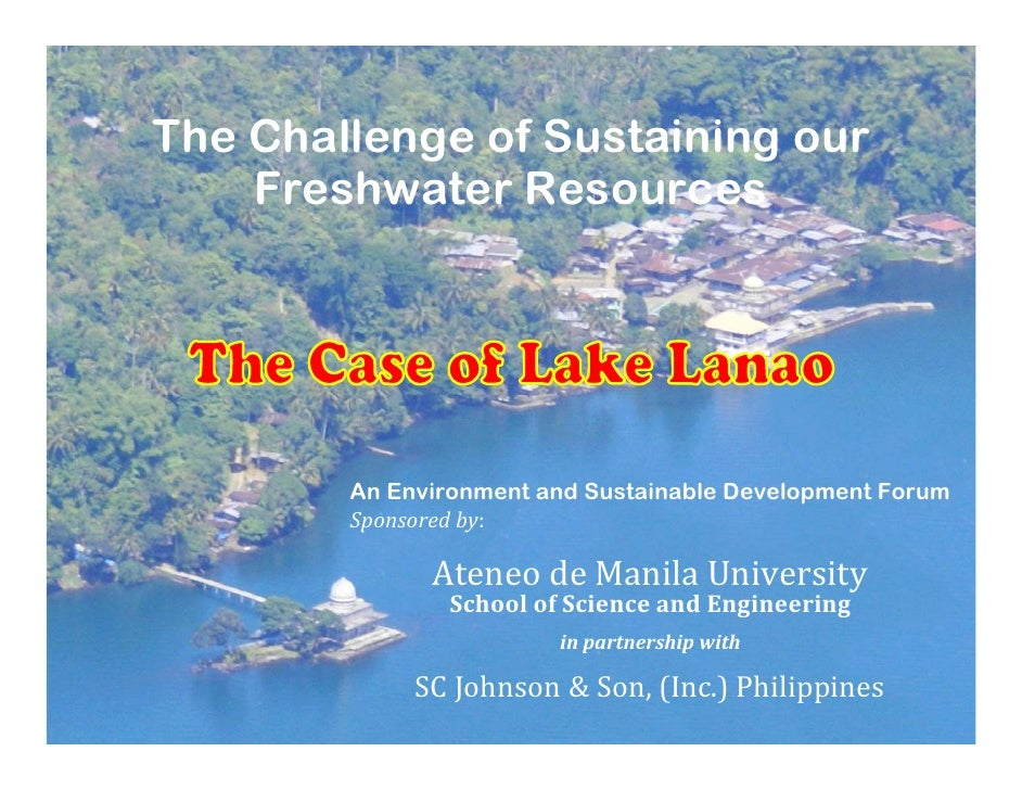 The Challenge of Sustaining our     Freshwater Resources             An Environment and Sustainable Development Forum     ...