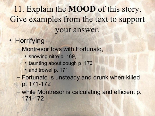 works cited for the cask of amontillado In studying the irony in the cask of amontillado, students will be better able to describe montresor and cite strong and thorough textual evidence ask students to work with a partner and share examples of irony they.