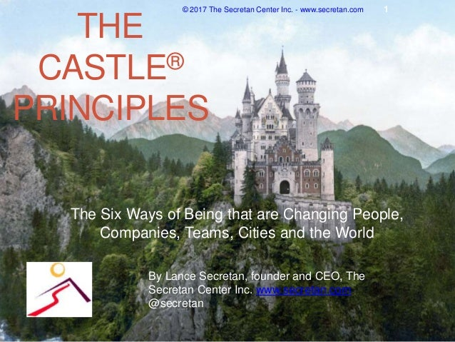 THE CASTLE® PRINCIPLES The Six Ways of Being that are Changing People, Companies, Teams, Cities and the World © 2017 The S...