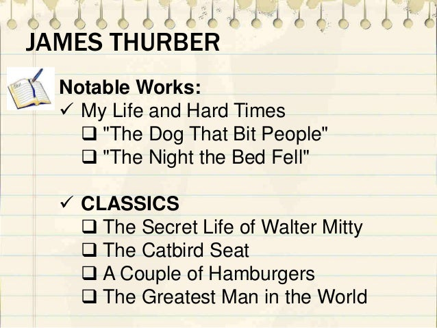 the catbird seat by james thurber