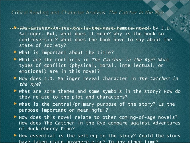 relatable and emotional symbolism in the catcher in the rye a novel by jd salinger Free essay: the catcher in the rye is a novel by jd salinger salinger's book is a must-read because its relatable symbolism draws on the reader's emotions and can easily keep the attention of anyone jd salinger's title, the catcher in the rye, alludes to the conflict holden faces of sexuality when growing up.