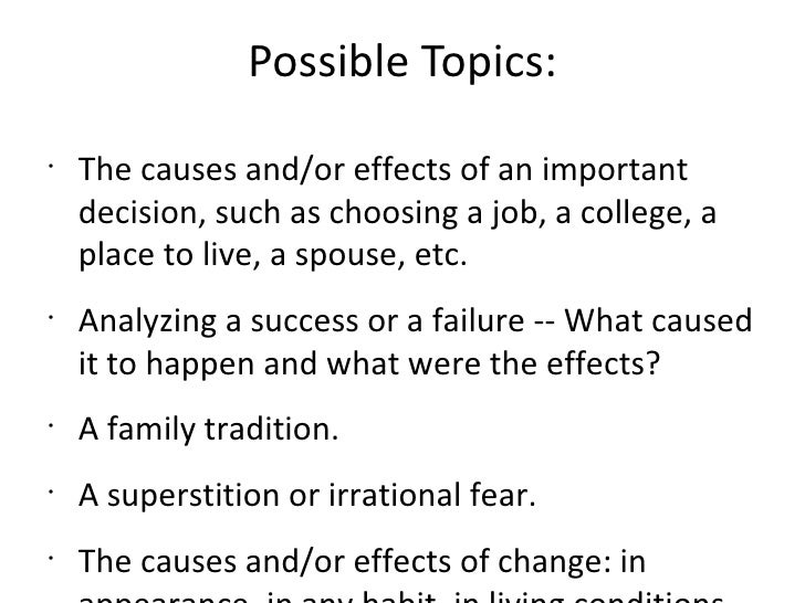 essays on cause and effect