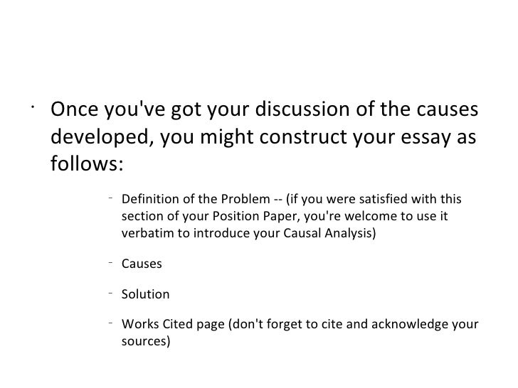 Causal analysis essay yelom agdiffusion com