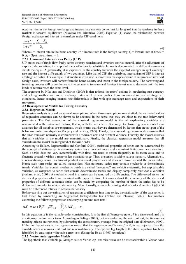 the relationship between exchange rates interest An empirical test of the relationship between interest rate and exchange rate with  a new wavelet network model using time series data, proved.
