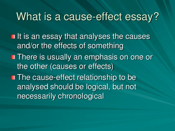 The Cause-Effect Essay