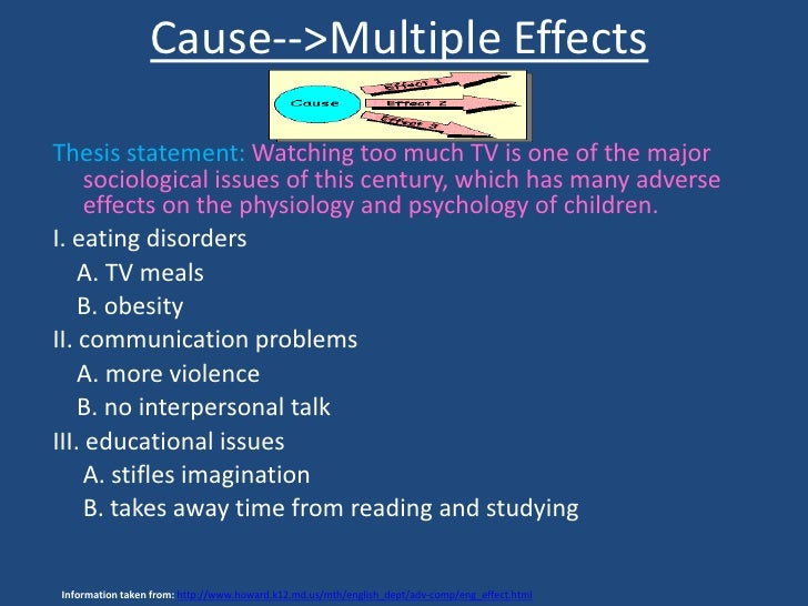 the cause and effect essay  13 immediate effect