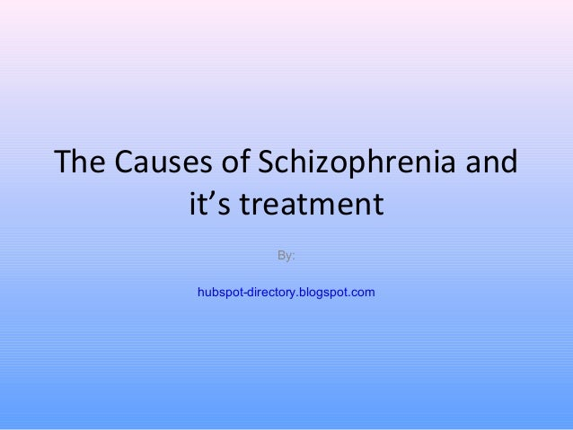 The Causes of Schizophrenia and it's treatment By: hubspot-directory.blogspot.com