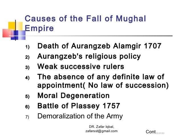 decrease mughal dynasty