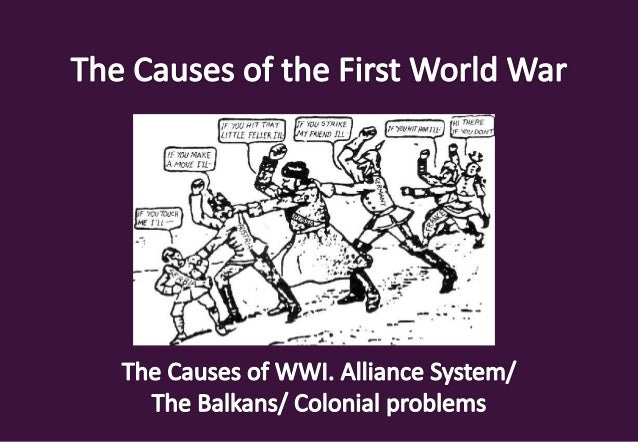 causes of first world war in points