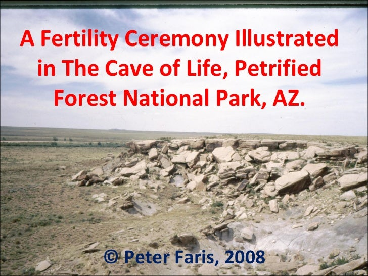 A Fertility Ceremony Illustrated in The Cave of Life, Petrified Forest National Park, AZ. © Peter Faris, 2008