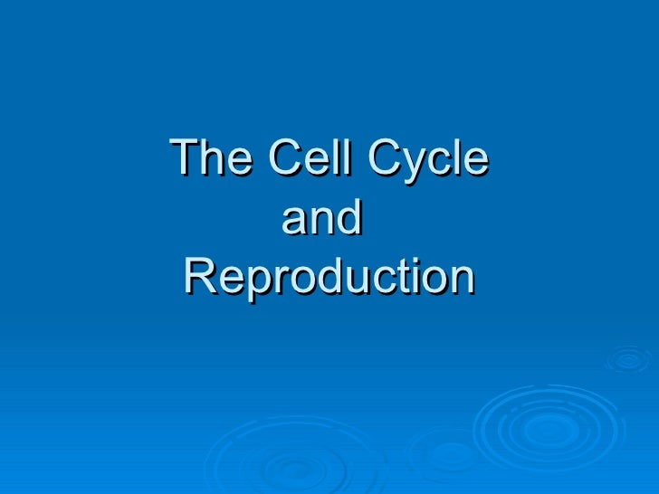 The Cell Cycle and  Reproduction
