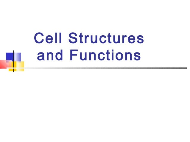 Cell Structuresand Functions