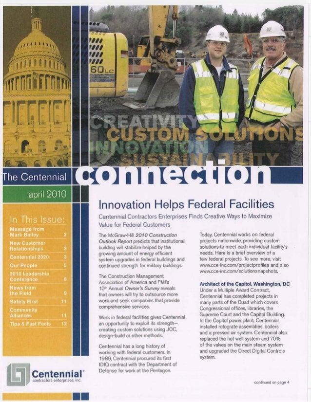 The Centennial Connection - April 2010