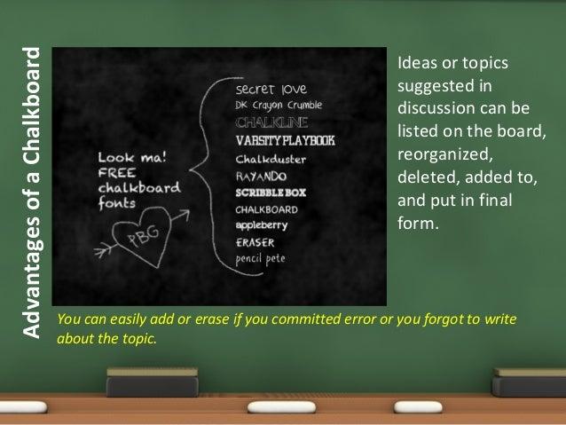 chalkboard presentation