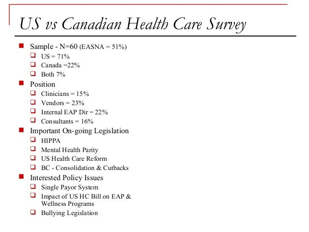 compare us and canadas health care How to compare health-care systems jun 29th 2014,  which does worse on serious cancer treatment than canada,  the economist explains:.