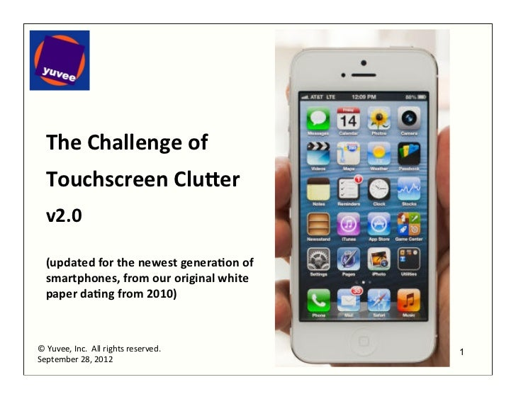 The	  Challenge	  of	     	     Touchscreen	  Clu0er	     	     v2.0	     	     (updated	  for	  the	  newest	  genera:on	...
