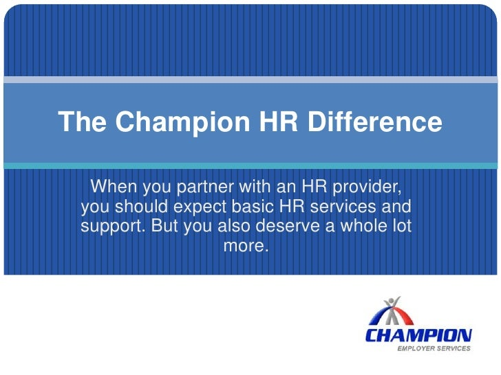 When you partner with an HR provider, you should expect basic HR services and support. But you also deserve a whole lot mo...