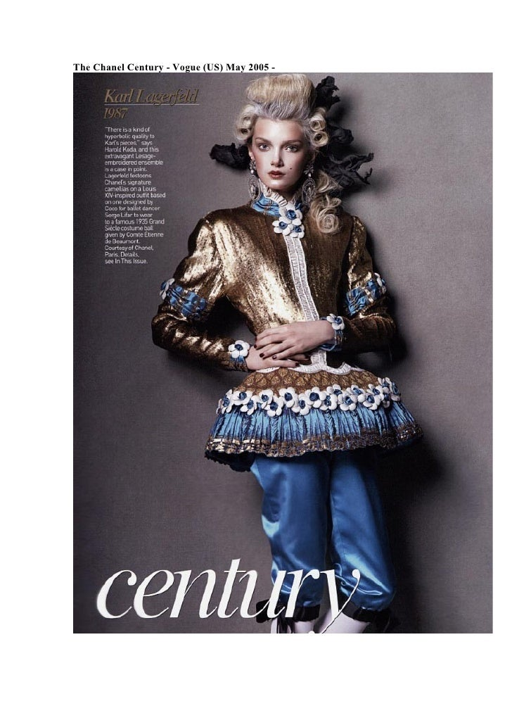 The Chanel Century - Vogue (US) May 2005 -