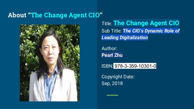 """""""The Change Agent CIO"""" Book Introduction  Slide 3"""