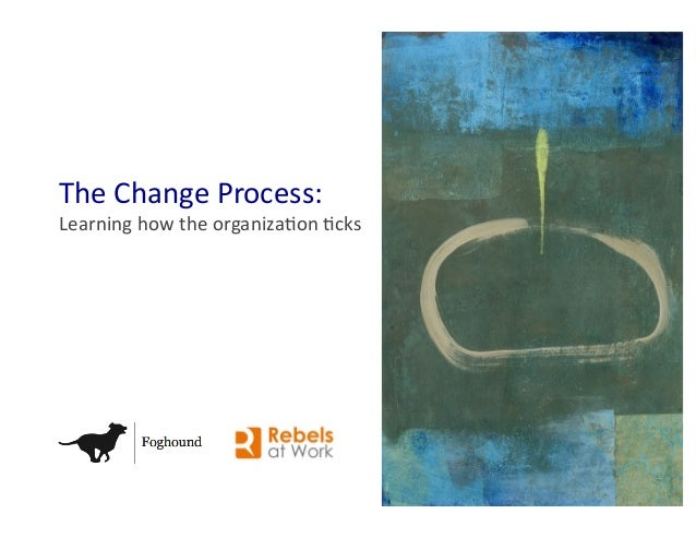 The Change Process: Learning how the organiza4on 4cks