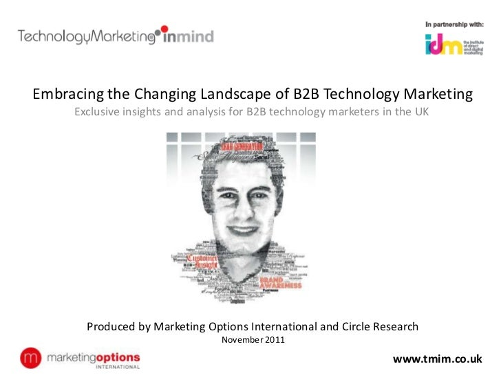 Embracing the Changing Landscape of B2B Technology Marketing     Exclusive insights and analysis for B2B technology market...