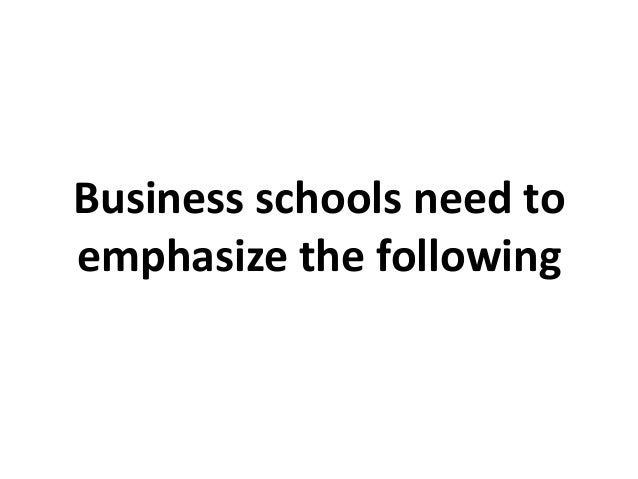 Changes required in the management education