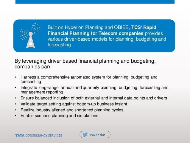 By leveraging driver based financial planning and budgeting, companies can: • Harness a comprehensive automated system for...
