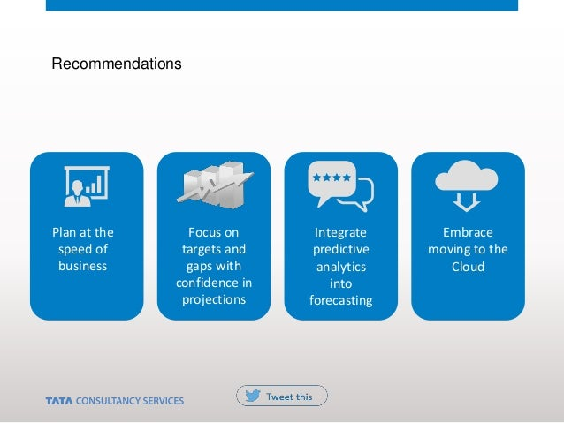 Plan at the speed of business Embrace moving to the Cloud Focus on targets and gaps with confidence in projections Integra...