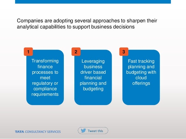 Companies are adopting several approaches to sharpen their analytical capabilities to support business decisions Transform...
