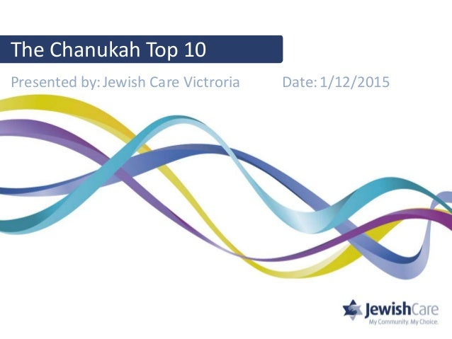 Presented by: Date:1/12/2015Jewish Care Victroria The Chanukah Top 10